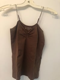Brown tank top with diamond straps