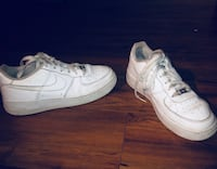 pair of white Nike Air Force 1 low Burnaby, V5A