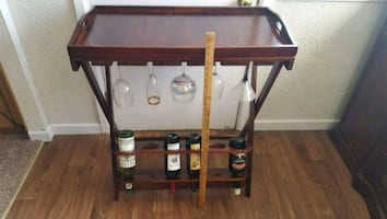 Folding Wine Rack and Service Tray