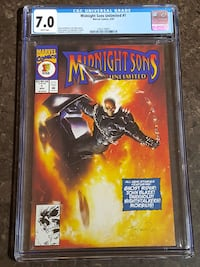 #1 Midnight Sons CGC Graded comic Ghost Rider