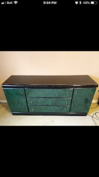 green and black wooden dresser Edmonton, T6C 2W6