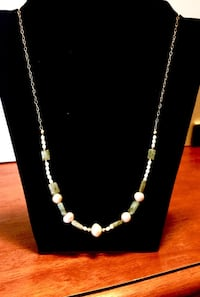 gold filled necklace with labradorite and pearls Oklahoma City, 73108
