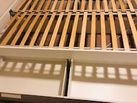White and brown wooden bed frame Mc Lean, 22102