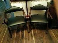 Pair of black low vintage arm chairs Mission Viejo, 92692