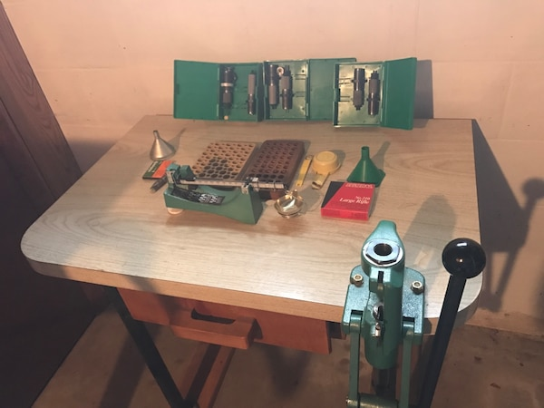 Used Hand reloading equipment RCBS rock chucker press for