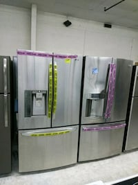 Stainless steel French doors refrigerator excellen Laurel, 20707