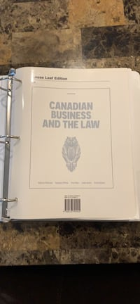 Canadian Business and the law 6th edition Mississauga, L5M 8A7