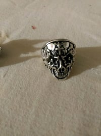 Cross on Head Skull Ring Edmonton, T6X 1C2