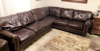 Real Leather Sectional Couch  2275 mi