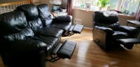 Black Leather Sofa + Matching Chair! Toms River