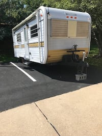 White and gray camper trailer Hanover, 21076