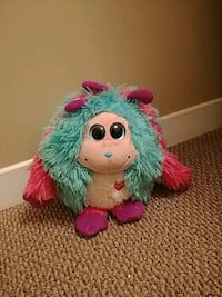 green and pink Furby plush toy London, N5W 1B1