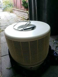 cylindrical white corded air cooler