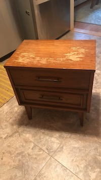 brown wooden 2-drawer nightstand Beltsville, 20705