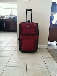 red and black luggage bag Des Plaines, 60016