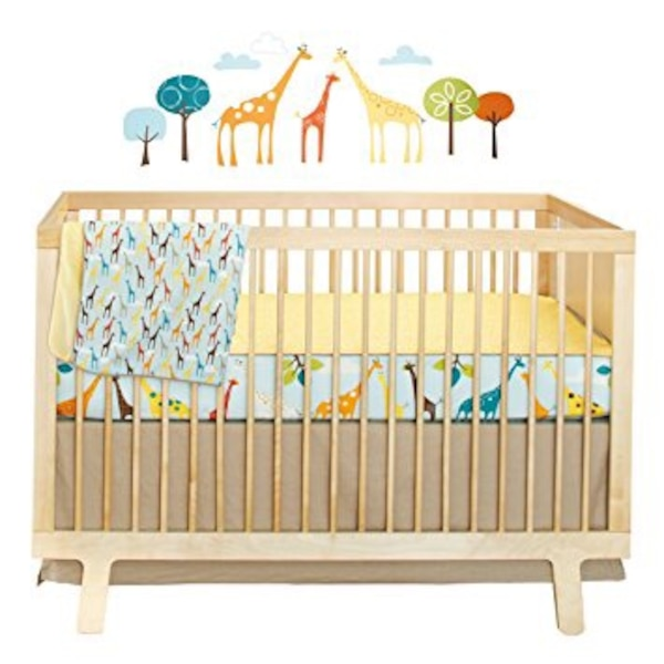 Brand New In Pkg  Skip Hop Complete Crib Bedding Set with wall decals