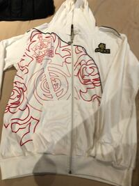 white and red floral long-sleeved shirt 35 mi