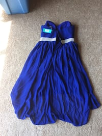 Women's blue strapless dress. Size 14 Independence, 64057