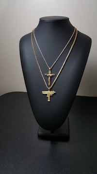 Gold Plated Crucifix & Uzi Combo Mississauga, L4Y 4G4