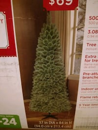 7ft Christmas Tree with decorations