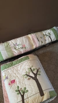 Pottery Barn forest friends bedding (bumper, crib sheet, crib skirt, quilt) Welland, L3C 7H7