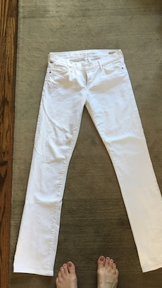 Citizens of humanity low rise straight leg white jeans purchased at Aritzia