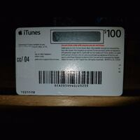 $100 iTunes Card  New York