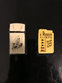 Zippo-mini with Moby Dick scene with flints