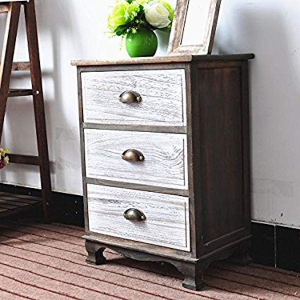 Dl Furniture Fully Embled 2 Tone Finish Night Stand 3 Drawer Storage Shelf Organizer