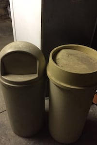Two garbage cans