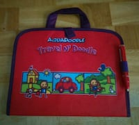 red Aquadoodle travel n' doodle bag