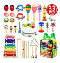 Kids Musical Instruments, 32pcs, 18 Types NEW ½ PRICE