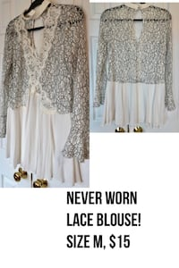 Never worn lace tunic!! Chantilly, 20152