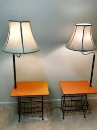 Side table with connected lamp one for 50$ Gaithersburg, 20878