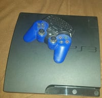 black Sony PS3 slim console with blue controller Phoenix, 85051
