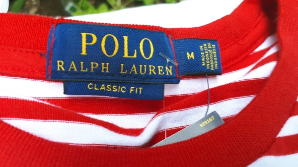 Ralph Lauren Polo Stripped T-Shirt Red/White NWT Large/Medium 3