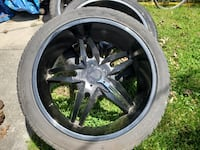 "24"" Rims and Tires set (four)"