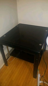 black wooden single-pedestal desk Winnipeg