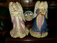 Vintage musical angels and plaque Theodore, 36582