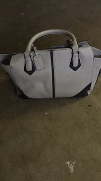 white and black leather tote bag Fort Worth, 76133
