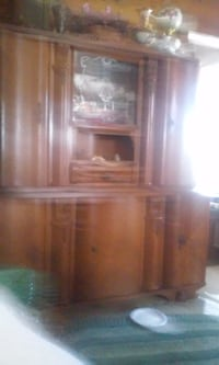 brown wooden cabinet with hutch Lancaster