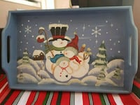Christmas hand painted tray  Whitby, L1N 8X2