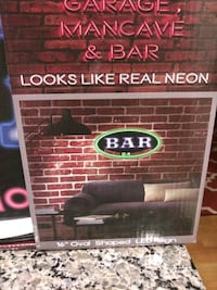 "BAR OPEN 24 HOURS LED sign 16""   Gaithersburg, 20886"
