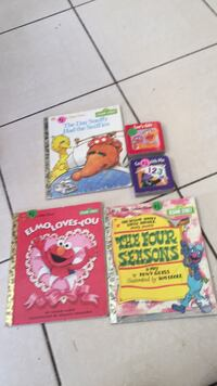 Books- Sesame Street, Elmo Grover and more. Lot of five books. Vaughan, L4J 5L7