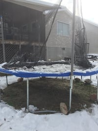 White and blue trampoline with enclosure Berkeley Springs, 25411