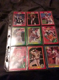 A sort dass dall cards and football cards it has 291 cards