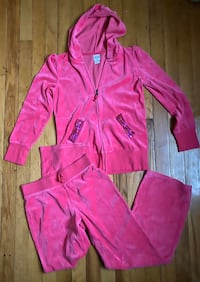 Girls size 10/12 pink sequin track suit sweatsuit hoodie Red Bank, 07701
