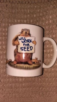 Squirrel Mug - Will Work for Seed Westfield, 07090