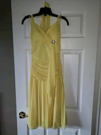 Yellow dress prom semi formal