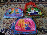 three assorted-color backpacks Chennai, 600001